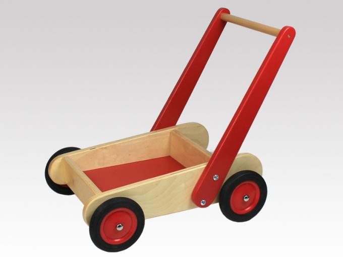 mit bremse lauflernwagen puppenwagen aus holz von larix toys wbh n r nieb ebay. Black Bedroom Furniture Sets. Home Design Ideas