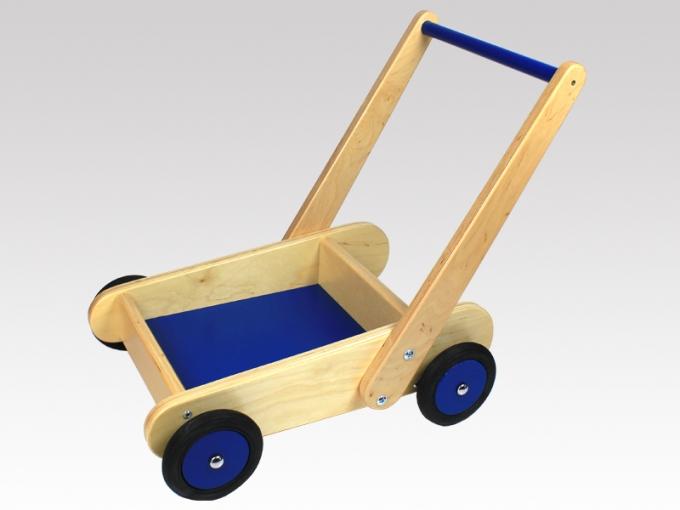 mit bremse schiebewagen lauflernwagen puppenwagen aus holz von larix toys ebay. Black Bedroom Furniture Sets. Home Design Ideas